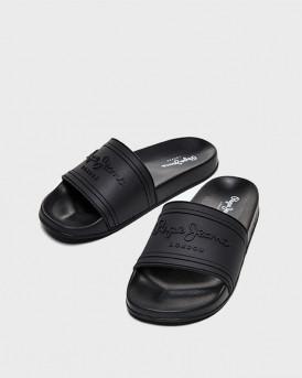 Pepe Jeans Γυναικείες Σαγιονάρες - PLS70081 SLIDER - ΜΑΥΡΟ