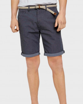 TOM TAILOR Chino shorts with belt - 1024576 - ΡΑΦ