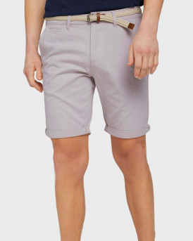 TOM TAILOR Chino shorts with belt - 1024576 - ΜΠΕΖ