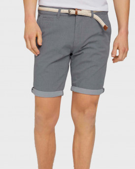 TOM TAILOR Chino shorts with belt - 1024576 - ΓΚΡΙ