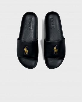 Polo Ralph Lauren Cayson Slide Sandal - 809793812007 - ΜΑΥΡΟ