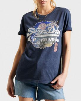 Superdry Μπλούζα Vintage Logo Itago T-Shirt - W1010510Α - ΜΠΛΕ