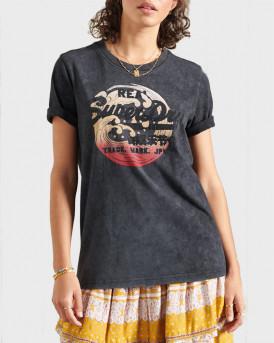 Superdry Μπλούζα Vintage Logo Itago T-Shirt - W1010510Α - ΜΑΥΡΟ