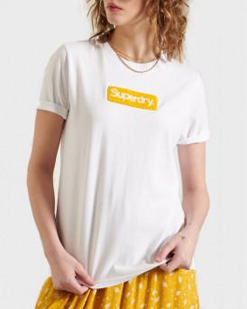 SUPERDRY ΓΥΝΑΙΚΕΙΑ ΜΠΛΟΥΖΑ CORE LOGO WORKWEAR T-SHIRT - W1010511A - ΑΣΠΡΟ