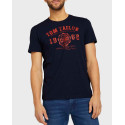 TOM TAILOR T-shirt with logo print - 1008637 - ΜΠΛΕ