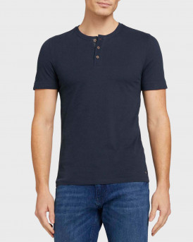TOM TAILOR Soft henley made with organic cotton - 1024926 - ΜΠΛΕ