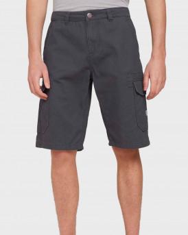 TOM TAILOR Twill cargo shorts - 1026183 - ΓΚΡΙ