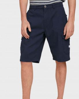 TOM TAILOR Twill cargo shorts - 1026183 - ΜΠΛΕ