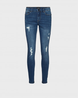 VERO MODA HANNA NORMAL WAIST SKINNY FIT JEANS - 10245460 - ΜΠΛΕ