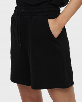 LOOSE FITTED SWEAT SHORTS - 15231834 - ΜΑΥΡΟ