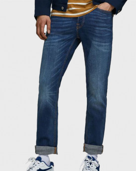 JACK & JONES TIM ORIGINAL AM 782 50SPS SLIM/STRAIGHT FIT JEANS - 12146384 - ΜΠΛΕ