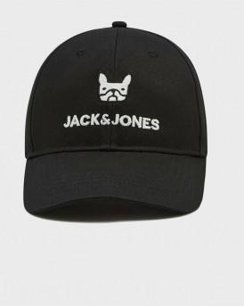 JACK & JONES JACPLAIN DOG BASEBALL CAP - 12190585 - ΜΑΥΡΟ