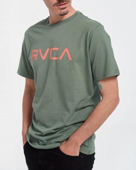 RVCA Ανδρικό Τ-Shirt - W1SSSQRVP1 BIG RVCA - ΠΡΑΣΙΝΟ