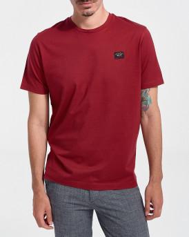 PAUL & SHARK Ανδρικό Τ-Shirt - C0P1002 - ΜΠΟΡΝΤΩ