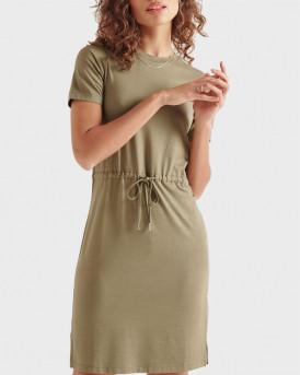 Superdry Γυναικείo Φόρεμα - W8010645Α - ΧΑΚΙ