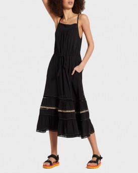 Superdry Γυναικείo Μακρύ Φόρεμα - W8010418Α - ΜΑΥΡΟ