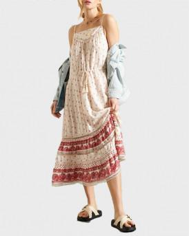 Superdry Γυναικείo Μακρύ Φόρεμα - W8010418Α - ΜΠΕΖ