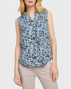 TOM TAILOR Sleeveless blouse with a floral print - 1025048 - ΜΠΛΕ