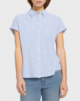 TOM TAILOR Short-sleeved shirt with stripes - 1025401 - ΣΙΕΛ