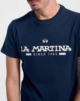 LA MARTINA Men T-Shirt - RMR020 JS206 - ΜΠΛΕ