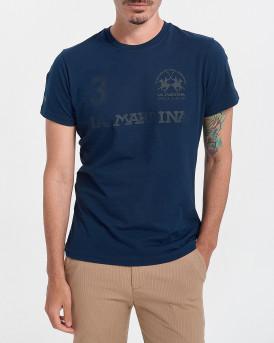 LA MARTINA Ανδρικό Τ-Shirt - RMR309 JS206 - ΜΠΛΕ