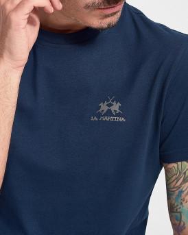 LA MARTINA Men T-Shirt - CCMR02 JS206 - ΜΠΛΕ