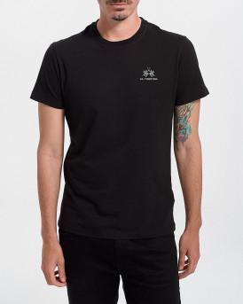 LA MARTINA Men T-Shirt - CCMR02 JS206 - ΜΑΥΡΟ