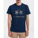 LA MARTINA Men T-Shirt - CCMR01 JS206 - ΜΠΛΕ