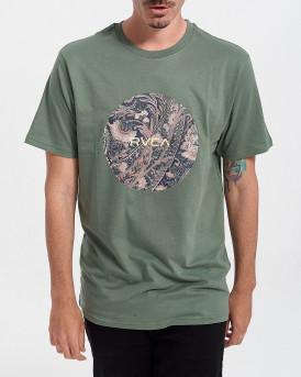 RVCA Ανδρικό Τ-Shirt - W1SSSBRVP1 ΜΟΤΟRS - ΠΡΑΣΙΝΟ