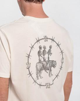 RVCA Men T-Shirt - W1SSRPRVP1 SKELETON - ΜΠΕΖ
