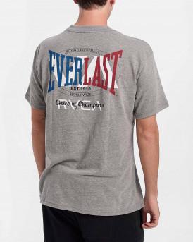 RVCA EVERLAST Men T-Shirt - W4SSMLRVP1 - ΓΚΡΙ