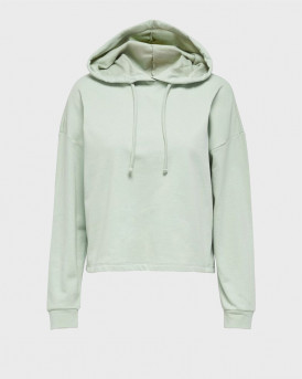 ONLY SOLID COLORED HOODIE - 15241103 - ΠΡΑΣΙΝΟ