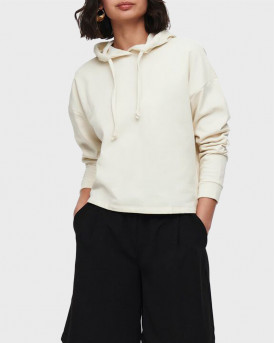 ONLY SOLID COLORED HOODIE - 15241103 - ΜΠΕΖ
