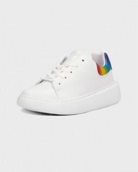 Guess Γυναικείο Sneakers - FL6BRDLEL12 - ΑΣΠΡΟ
