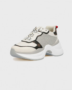 Guess Γυναικείο Sneakers - FL5JN2FAL12 - ΑΣΠΡΟ