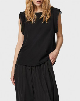 VERO MODA O-NECK SLEEVELESS TOP - 10244715 - ΜΑΥΡΟ