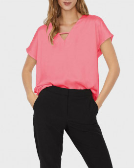 VERO MODA GLEE V-NECK BLOUSE - 10244824 - ΡΟΖ