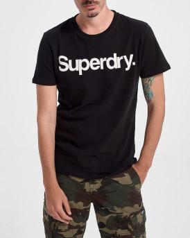 Superdry Ανδρικό Τ-Shirt - M1010248Α - ΜΑΥΡΟ