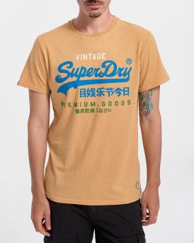Superdry Ανδρικό Τ-Shirt - Μ1011201Α - ΜΟΥΣΤΑΡΔΙ