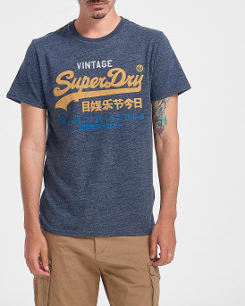 Superdry Ανδρικό Τ-Shirt - Μ1011201Α - ΜΠΛΕ
