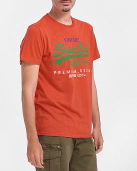 Superdry Ανδρικό Τ-Shirt - Μ1011201Α - ΚΟΡΑΛΛΙ