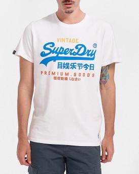 Superdry Ανδρικό Τ-Shirt - Μ1011201Α - ΑΣΠΡΟ