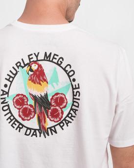 Hurley Ανδρικό Τ-Shirt - CZ6041 - ΑΣΠΡΟ