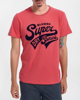 Superdry Ανδρικό Τ-Shirt - M1011193Α - ΦΟΥΞΙΑ