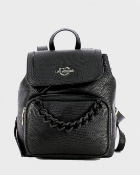 Love Moschino chainlink-embellished backpack - JC4267PP0CKL0 - MΑΥΡΟ