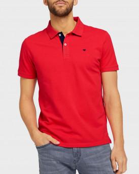 TOM TAILOR Basic polo shirt - 1016502.00.10 - ΚΟΚΚΙΝΟ