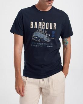 BARBOUR STORM TEE - MTS0818 - ΜΠΛΕ