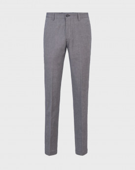 Washable slim-fit trousers in stretch cotton - 50450182 STANINO17-W - ΜΠΛΕ