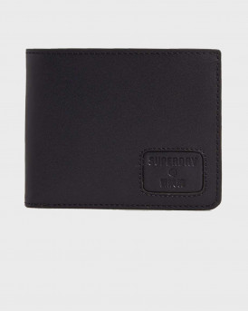 SUPERDRY NYC BIFOLD leather wallet - Μ9810144Α - ΜΑΥΡΟ