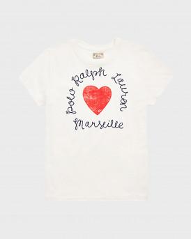 Polo Ralph Lauren Heart Logo Cotton Jersey Tee - 211827902001 - ΑΣΠΡΟ
